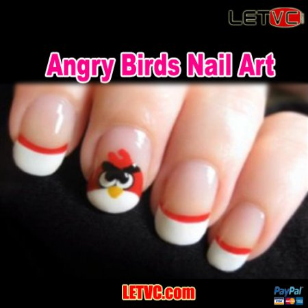 How To Design Angry Birds Nail Art