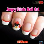 How to design Angry Birds Nail Art !