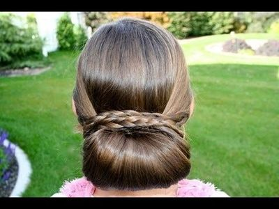 Braid Wrapped Chignon Updos Cute Girls Hairstyles