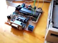 An audio device made out of an old floppy drive