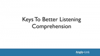 Better listening comprehension