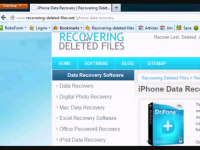 recovering data of iphone