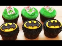 How to make Batman cupcake?