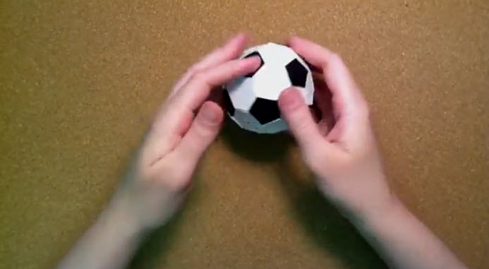 How To Make Soccer Ball With Paper
