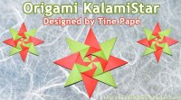 Making Origami KalamiStar, tutorial