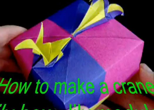 Easy Origami Crane Tutorial - Tsuru - Paper Kawaii - YouTube | 377x525