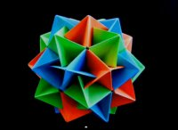 Making origami Twinboat, lcosahedron, tutorial
