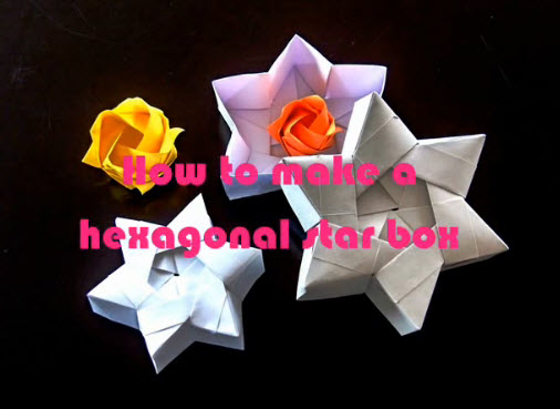 How To Make An Origami Star Box - video tutorial - excellent ... | 369x506