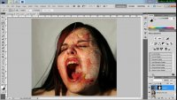 Photoshop Tutorial Burned Face