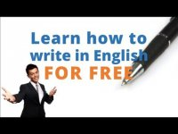 Learn to write in English, educational