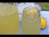 Easy homemade lemonade recipe, old fashioned, tutorial drink making