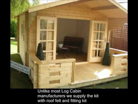 How to make a summerhouse for Design your own log cabin
