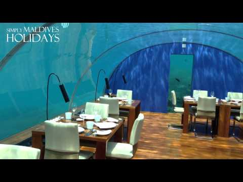 Amazing underwater restaurant in maldives for Ithaa prices