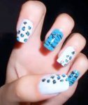 Leopard and Zebra nail design