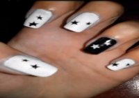 Star nail design - cute and quick!