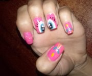 Pinkie Pie inspired nail tutorial