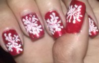 Winter inspired nail design ♡ Snowflake nail tutorial