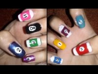 8 Ball inspired nail art tutorial