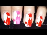 Valentine's Day inspired nail art ♡ Heart Yin Yang nail tutorial