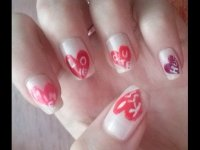 Valentine's Day inspired nail design ♡