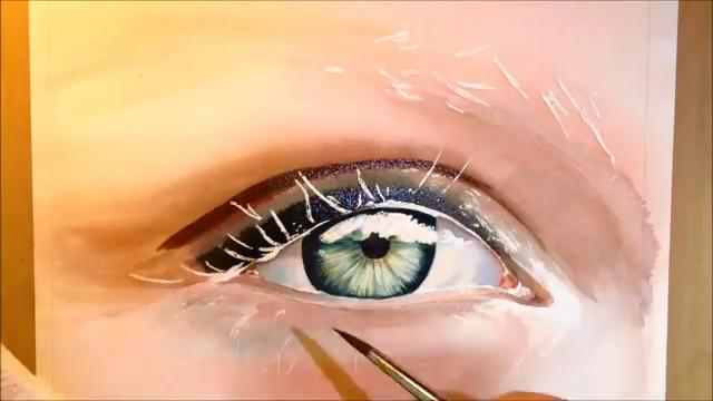 how to paint a realistic eye watercolor portrait tutorial
