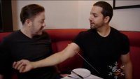 WATCH David Blaine Freaks Out Ricky Gervais